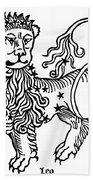 Zodiac Leo, 1482 Hand Towel