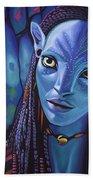 Zoe Saldana As Neytiri In Avatar Bath Towel
