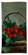 Basket Of Strawberries Bath Towel