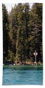 Lake Tahoe Sugar Pine Point Light Bath Towel