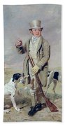 Richard Prince With Damon - The Late Colonel Mellish's Pointer Bath Towel
