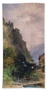 The Castle Of Katz On The Rhine Bath Towel