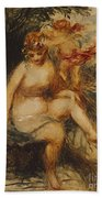 Venus And Love Allegory Bath Towel