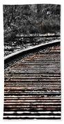 0003 Train Tracks Bath Towel