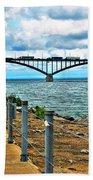 004 Stormy Skies Peace Bridge Series Bath Towel