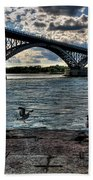 006 Peace Bridge Series II Beautiful Skies Bath Towel