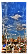 007 On A Summers Day  Erie Basin Marina Summer Series Bath Towel