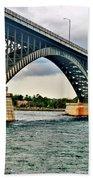 008 Stormy Skies Peace Bridge Series Bath Towel