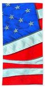 01 American Flag Bath Towel