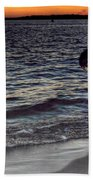 011 A Sunset With Eyes That Smile Soothing Sounds Of Waves For Miles Portrait Series Bath Towel