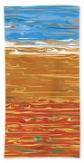 0145 Abstract Landscape Bath Towel