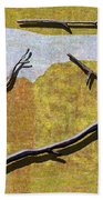 0291 Abstract Landscape Bath Towel