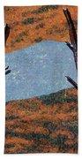 0361 Abstract Landscape Bath Towel
