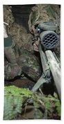 A British Army Sniper Team Dressed Bath Towel
