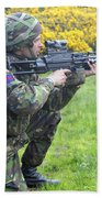 A Coldstream Guard Training In Scotland Bath Towel