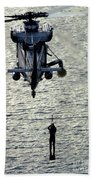A Search And Rescue Swimmer Is Hoisted Bath Towel