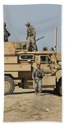 A U.s. Army Cougar Mrap Vehicle Hand Towel