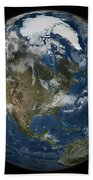 A View Of The Earth With The Full Bath Towel