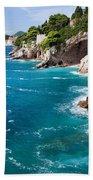 Adriatic Sea Coastline Bath Towel
