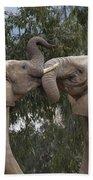 African Elephant Loxodonta Africana Bath Towel