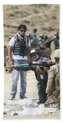 An Afghan Police Student Loads A Rpg-7 Bath Towel
