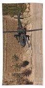 An Ah-64d Apache Helicopter In Flight Bath Towel