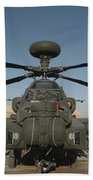 An Apache Helicopter At Camp Bastion Bath Towel