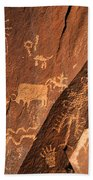 Ancient Indian Petroglyphs Bath Towel