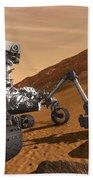 Artist Concept Of Nasas Mars Science Bath Towel