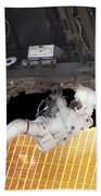 Astronaut Participates In A Spacewalk Bath Towel
