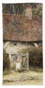 At The Cottage Gate Bath Towel
