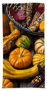 Autumn Still Life Bath Towel