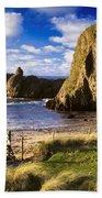 Ballintoy, County Antrim, Ireland Beach Bath Towel