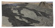 Basaltic Lava Flow From Pit Crater Bath Towel