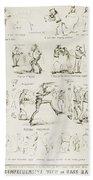 Baseball Cartoons, 1859 Bath Towel