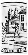 Baseball Game, 1820 Bath Towel