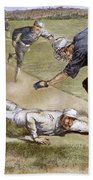 Baseball Game, 1885 Bath Towel