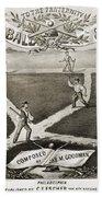 Baseball Polka, 1867 Bath Towel