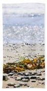 Beach Detail On Pacific Ocean Coast Bath Towel