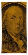 Ben Franklin In Orange Bath Towel