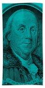 Ben Franklin In Turquois Bath Towel