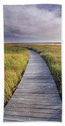 Boardwalk Along The Salt Marsh Bath Towel