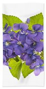Bouquet Of Violets Hand Towel by Elena Elisseeva
