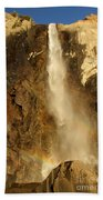 Bridal Veil Falls At Yosemite Bath Towel