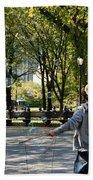Bubble Boy Of Central Park Bath Towel