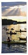 Canoeing Bath Towel