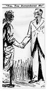Cartoon: Fdr & Workingmen Bath Towel