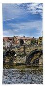 Charles Bridge - Prague Bath Towel