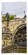 Charles Bridge And Prague Castle Bath Towel