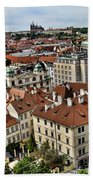 Clock Tower View - Prague Bath Towel